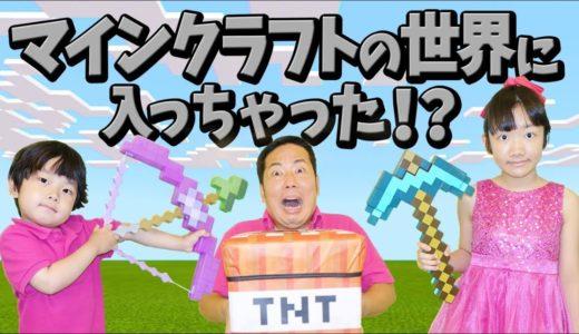 ★実写版マインクラフト!「マイクラの世界に入っちゃった~」★Live Action Mine Craft★
