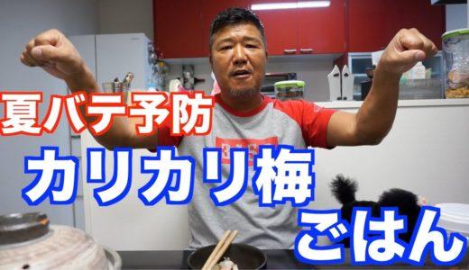 【超簡単】カリカリ梅ごはん!
