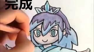 [妖怪ウォッチ2] ふぶき姫の描き方 ぬり方 いろいろ説明してみた [ニャンパチ先生] how to draw Youkai Watch 요괴워치
