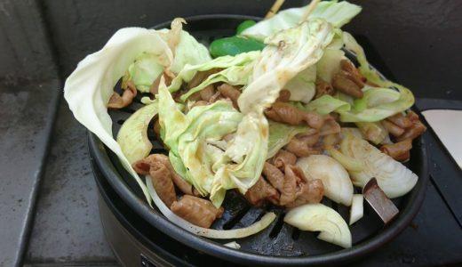 夏野菜がメインでもつがおかずの 焼き物は美味しいので