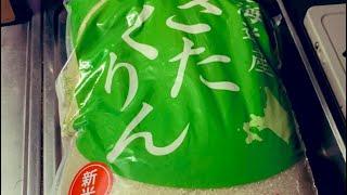 北海道米LOVE❤️ 新米のきたくりんをおかずで食おう #北海道米 #きたくりん