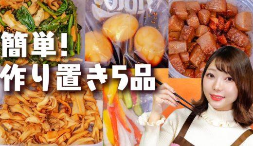 【節約】主婦の簡単すぎる作り置き!美味しい料理を時短でまとめて5品作ってみた!【60分】